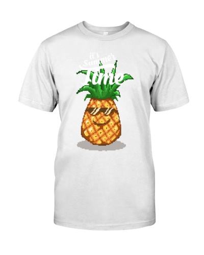 Happy Summer Pineapple Pixel Art