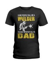 WELDER DAD Ladies T-Shirt thumbnail