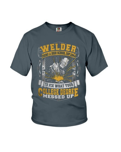 WELDER USING