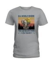 BE KIND ELEPHANT VINTAGE Ladies T-Shirt thumbnail