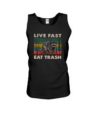 LIVE FAST EAT TRASH VINTAGE Unisex Tank thumbnail