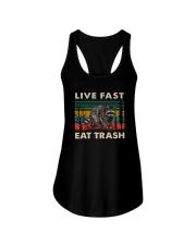 LIVE FAST EAT TRASH VINTAGE Ladies Flowy Tank thumbnail
