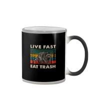LIVE FAST EAT TRASH VINTAGE Color Changing Mug thumbnail