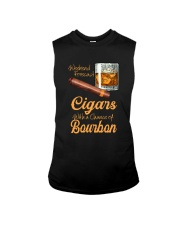 WEEKEND FORECAST CIGARS WITH A CHANCE OF BOURBON Sleeveless Tee thumbnail