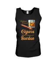 WEEKEND FORECAST CIGARS WITH A CHANCE OF BOURBON Unisex Tank tile
