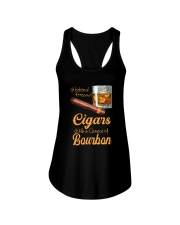 WEEKEND FORECAST CIGARS WITH A CHANCE OF BOURBON Ladies Flowy Tank tile