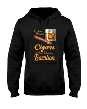 WEEKEND FORECAST CIGARS WITH A CHANCE OF BOURBON Hooded Sweatshirt thumbnail