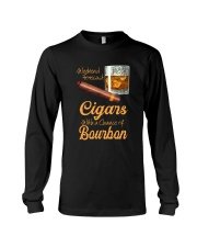 WEEKEND FORECAST CIGARS WITH A CHANCE OF BOURBON Long Sleeve Tee thumbnail
