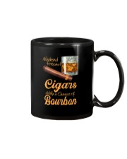 WEEKEND FORECAST CIGARS WITH A CHANCE OF BOURBON Mug tile