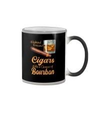 WEEKEND FORECAST CIGARS WITH A CHANCE OF BOURBON Color Changing Mug thumbnail