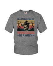 IN A WORLD FULL OF PRINCESS BE A WITCH Youth T-Shirt thumbnail