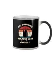 DAY DRINKING BECAUSE 2020 SUCKS 1 Color Changing Mug thumbnail