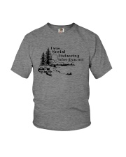 I WAS SOCIAL DISTANCING CAMPING Youth T-Shirt tile