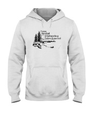 I WAS SOCIAL DISTANCING CAMPING Hooded Sweatshirt tile
