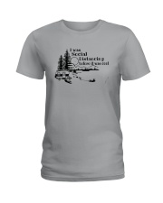 I WAS SOCIAL DISTANCING CAMPING Ladies T-Shirt tile