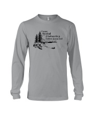I WAS SOCIAL DISTANCING CAMPING Long Sleeve Tee tile