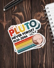 PLUTO NEVER FORGET Sticker - 4 pack (Vertical) aos-sticker-4-pack-vertical-lifestyle-front-05