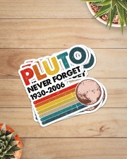 PLUTO NEVER FORGET Sticker - 4 pack (Vertical) aos-sticker-4-pack-vertical-lifestyle-front-07
