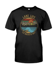 VINTAGE LAKE LIFE CUZ BEACHES BE SALTY Classic T-Shirt front