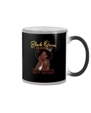 BLACK QUEEN I AM WHO I AM Color Changing Mug tile