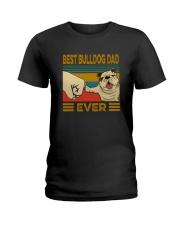 BEST BULLDOG DAD EVER Ladies T-Shirt thumbnail