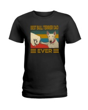Best Bull Terrier Dad Ever Ladies T-Shirt thumbnail