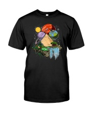 Space Egyptian Pyramids Classic T-Shirt front