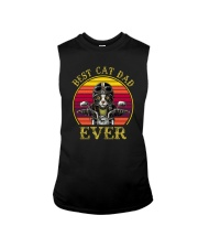 BEST CAT DAD EVER DRIVE MOTORCYCLE Sleeveless Tee thumbnail