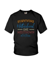 SURVIVING MOTHERHOOD ONE MELTDOWN AT A TIME Youth T-Shirt thumbnail