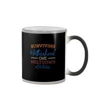 SURVIVING MOTHERHOOD ONE MELTDOWN AT A TIME Color Changing Mug thumbnail