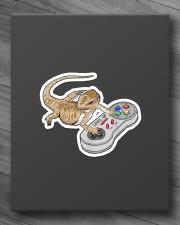 BEARDED DRAGON PLAY VIDEO GAME Sticker - Single (Vertical) aos-sticker-single-vertical-lifestyle-front-10