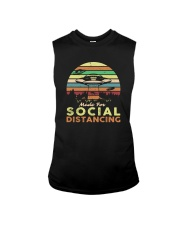 MADE FOR SOCIAL DISTANCING ALIEN UFO VINTAGE Sleeveless Tee thumbnail