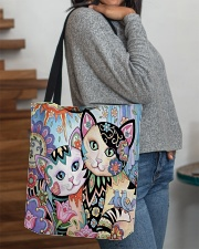 CAT ART All-over Tote aos-all-over-tote-lifestyle-front-09