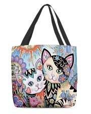 CAT ART All-over Tote back