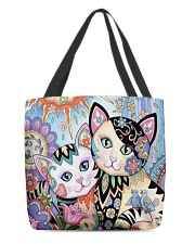 CAT ART All-over Tote front