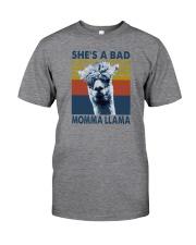 SHE'S A BAD MOMMA LLAMA Classic T-Shirt front