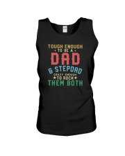 TOUGH ENOUGN TO BE A DAD AND STEPDAD Unisex Tank thumbnail