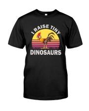 I RAISE TINY DINOSAUR CHICKEN VINTAGE T SHIRT Classic T-Shirt front