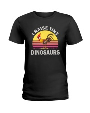 I RAISE TINY DINOSAUR CHICKEN VINTAGE T SHIRT Ladies T-Shirt thumbnail