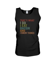 I EAT BACON AND I KNOW THINGS Unisex Tank thumbnail