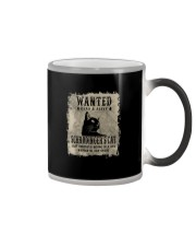 WANTED DEAD AND ALIVE SCHRODINGER'S CAT Color Changing Mug thumbnail