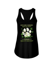 DOGS AND CANNABIS MAKE ME HAPPY Ladies Flowy Tank thumbnail