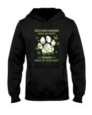 DOGS AND CANNABIS MAKE ME HAPPY Hooded Sweatshirt thumbnail