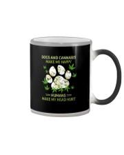 DOGS AND CANNABIS MAKE ME HAPPY Color Changing Mug thumbnail