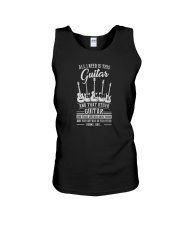 ALL I NEED IS THIS GUITAR AND THAT OTHER GUITAR Unisex Tank thumbnail