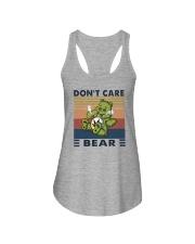 DON'T CARE BEAR Ladies Flowy Tank thumbnail