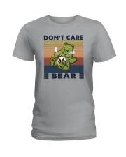DON'T CARE BEAR Ladies T-Shirt thumbnail