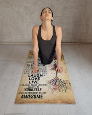 TODAY IS A GOOD DAY Yoga Mat 24x70 (vertical) aos-yoga-mat-lifestyle-17