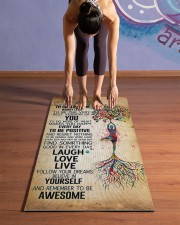 TODAY IS A GOOD DAY Yoga Mat 24x70 (vertical) aos-yoga-mat-lifestyle-25