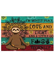 I'M MOSTLY PEACE LOVE AND LIGHT 24x16 Poster front